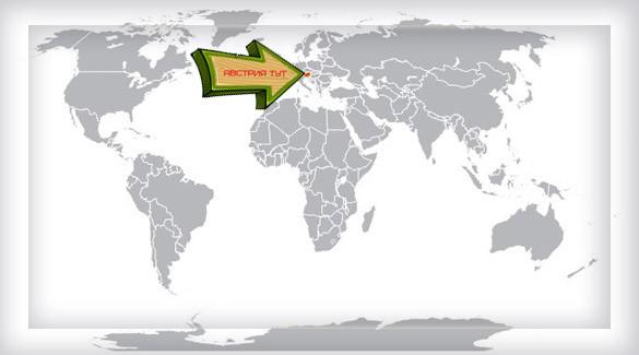 Австрия на карте мира