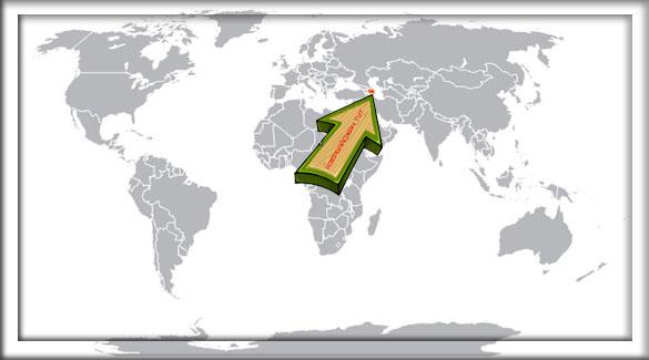 Азербайджан на карте мира