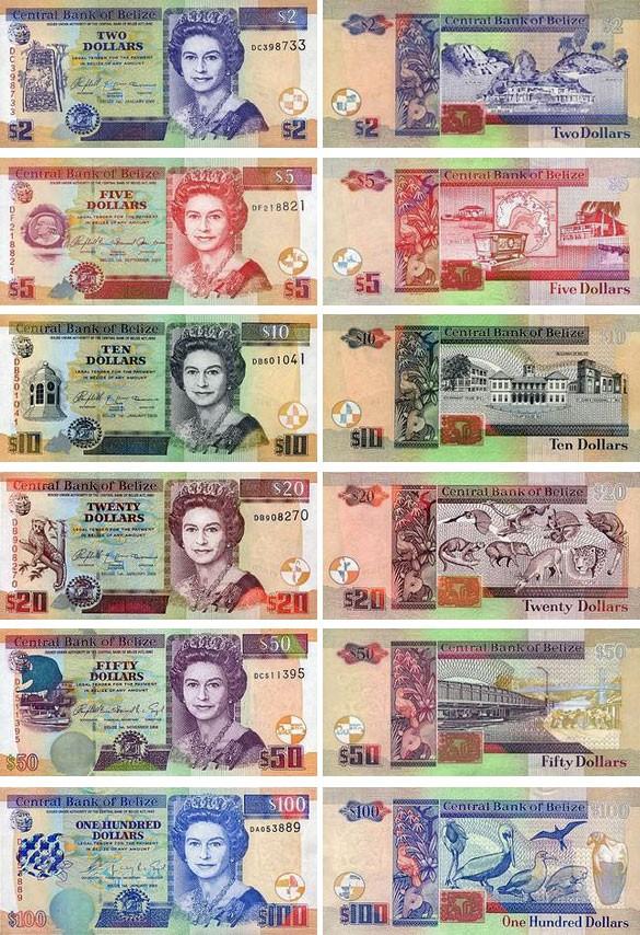 банкноты Белиза