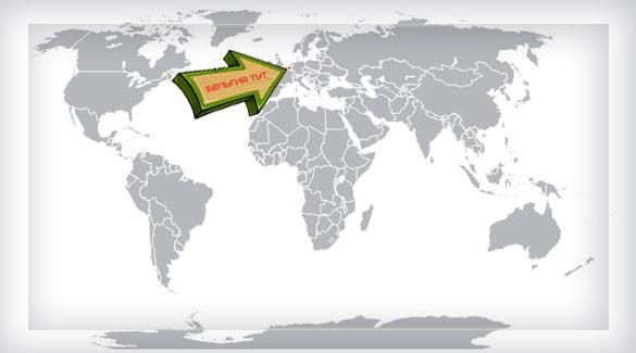 Бельгия на карте мира