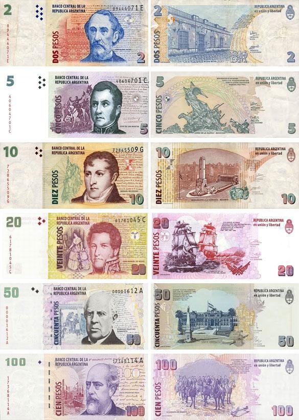 Валюта Аргентины. Банкноты