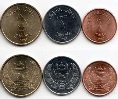 Валюта Афганистана. Монеты