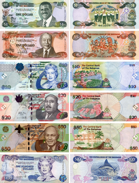 Банкноты Багам