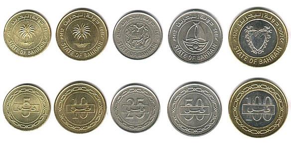 Валюта Бахрейна. Монеты