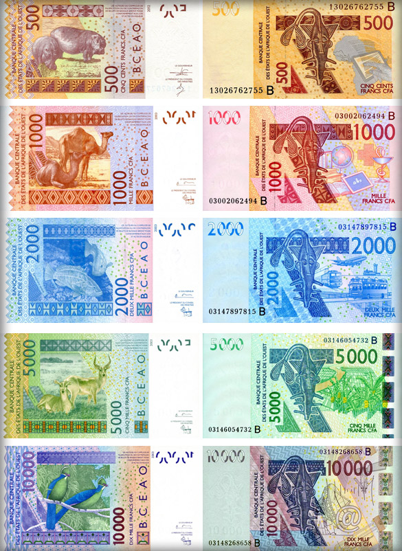 Банкноты Бенина