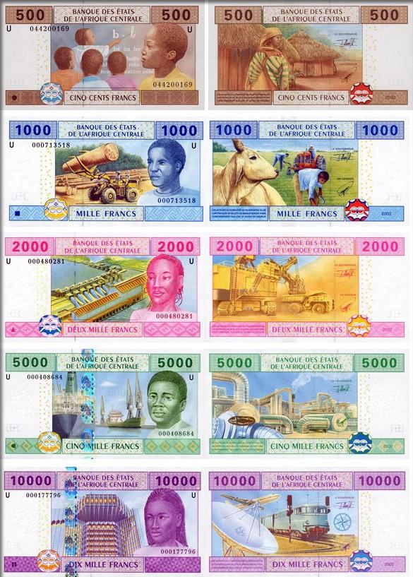 Банкноты (купюры) Габона