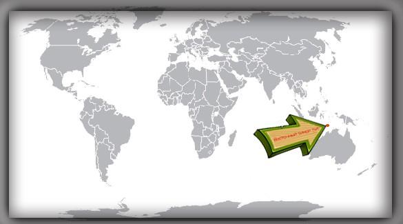 Восточный Тимор на карте мира