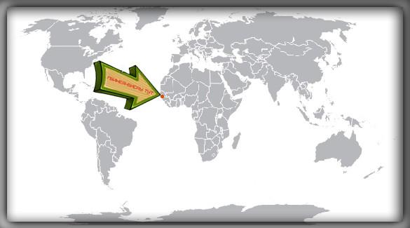 Гвинея-Бисау на карте