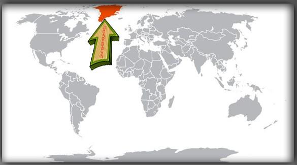 Гренландия на карте мира