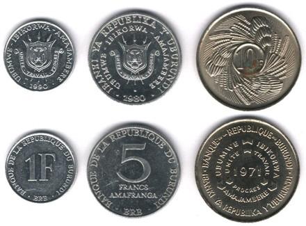 Монеты Бурунди. Валюта Бурунди.