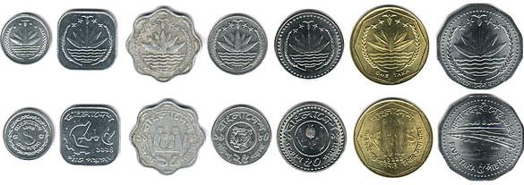 Валюта Бангладеш. Монеты
