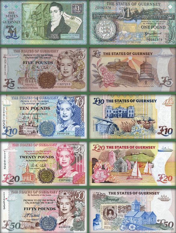 Валюта Гернси - банкноты