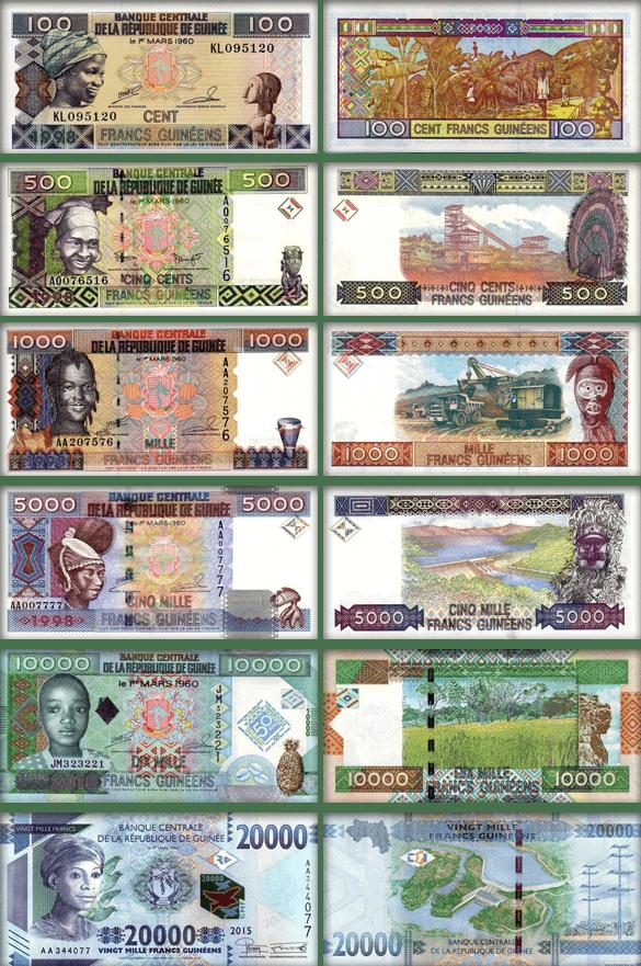 валюта Гвинеи (банкноты Гвинеи)
