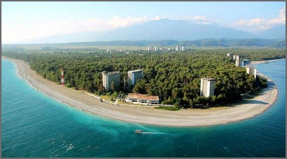 город Пицунда. Абхазия