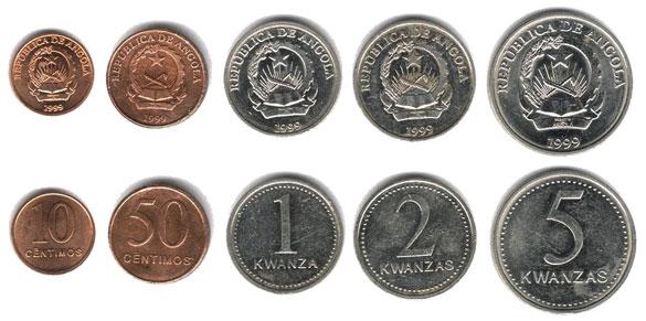 монеты Анголы.Валюта Анголы