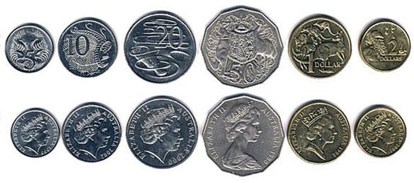 Валюта Австралии. Монеты-австралийского-доллара