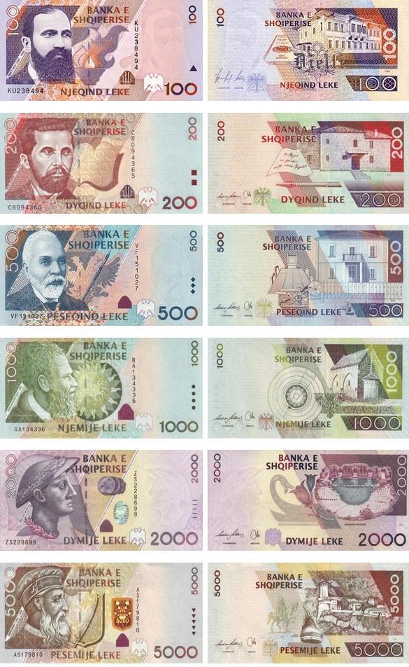 валюта Албании. Банкноты