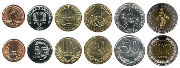 валюта Албании. Монеты