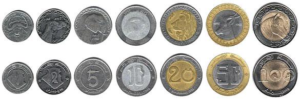 Валюта Алжира. Монеты