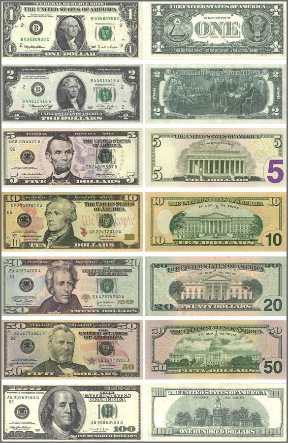 валюта Американского Самоа. Банкноты