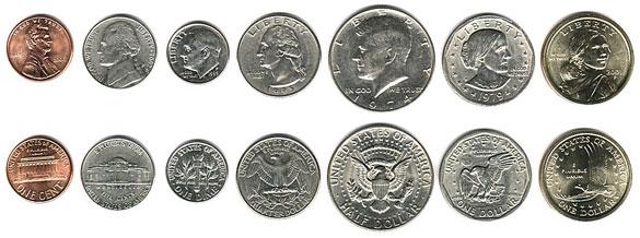 валюта Американского Самоа. Монеты
