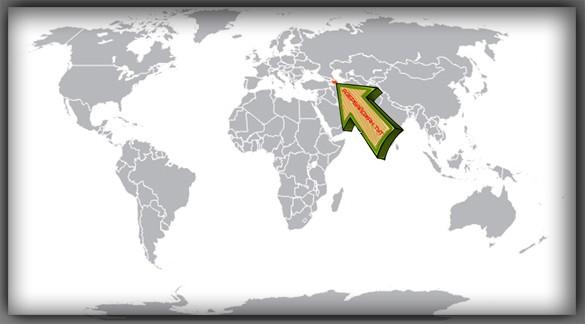 Азербайджан на карте