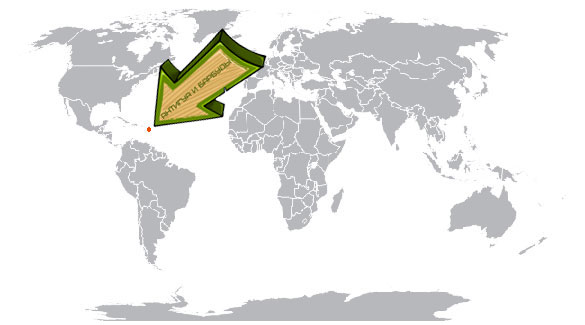 Антигуа и Барбуды на карте мира