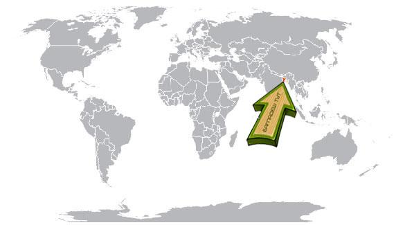 Бангладеш на карте мира