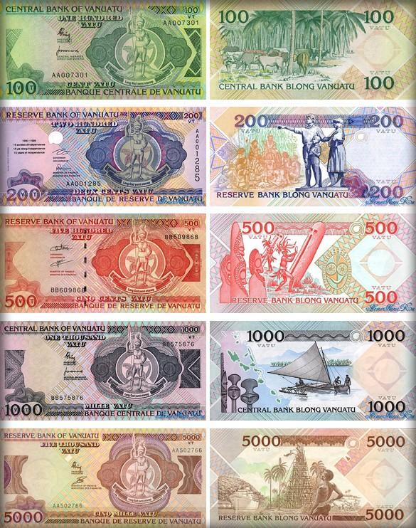 Валюта Вануату. Банкноты Вануату