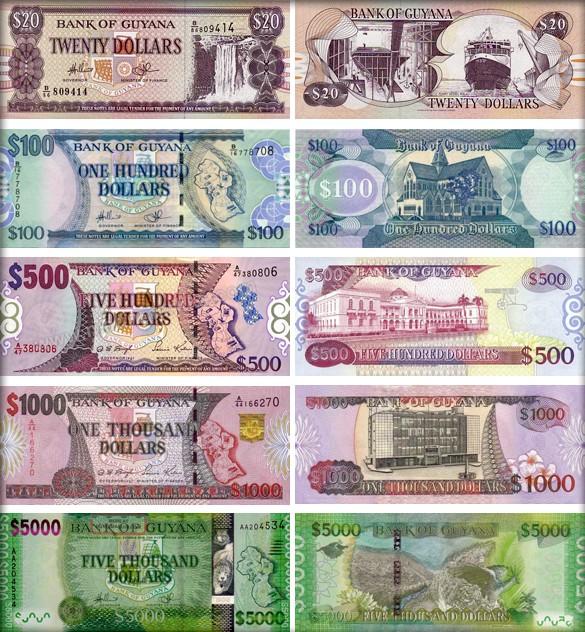 Валюта Гайаны. Банкноты