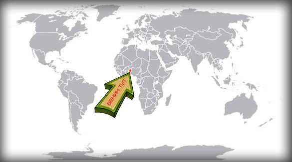 Бенин на карте мира