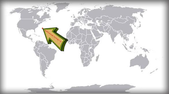 Бермуды на карте мира