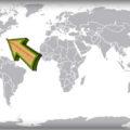 Бермудские острова на карте мира