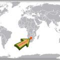 Ботсвана на карте мира
