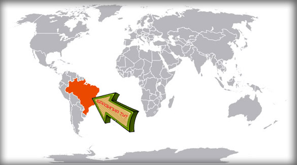 Бразилия на карте мира