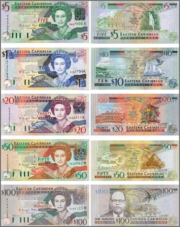 Валюта Антигуа и Барбуды. Банкноты