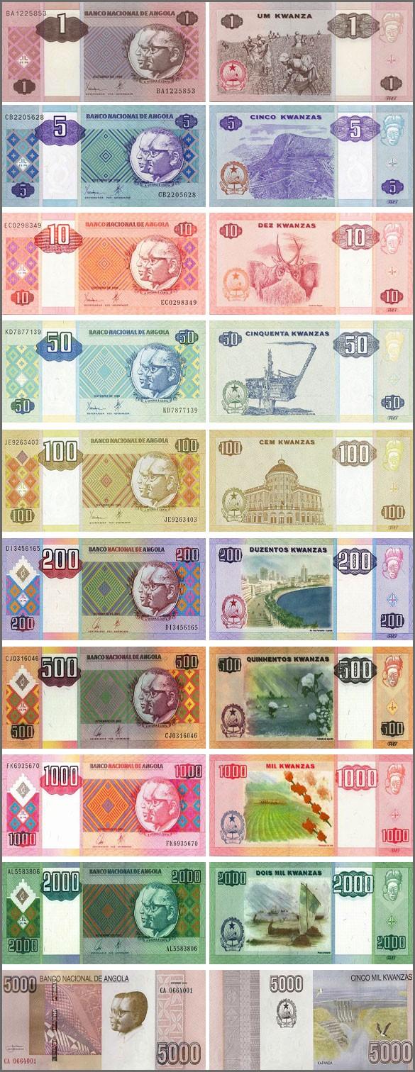 Валюта Анголы. Банкноты Анголы
