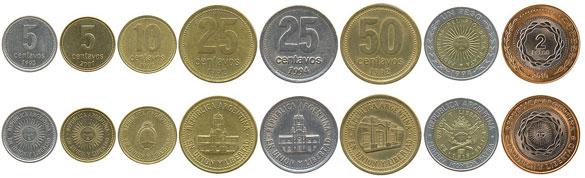 Валюта Аргентины. Монеты