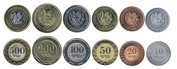 Валюта Армении. Монеты