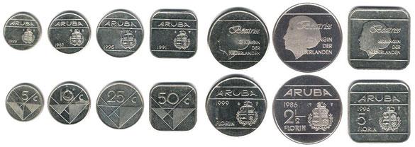 Валюта Арубы. Монеты
