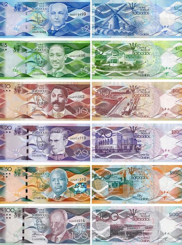 Валюта Барбадоса. Банкноты