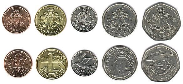 Валюта Барбадоса. Монеты