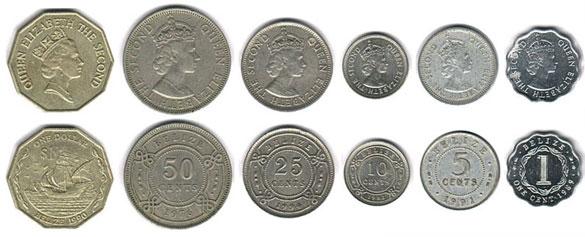 монеты Белиза