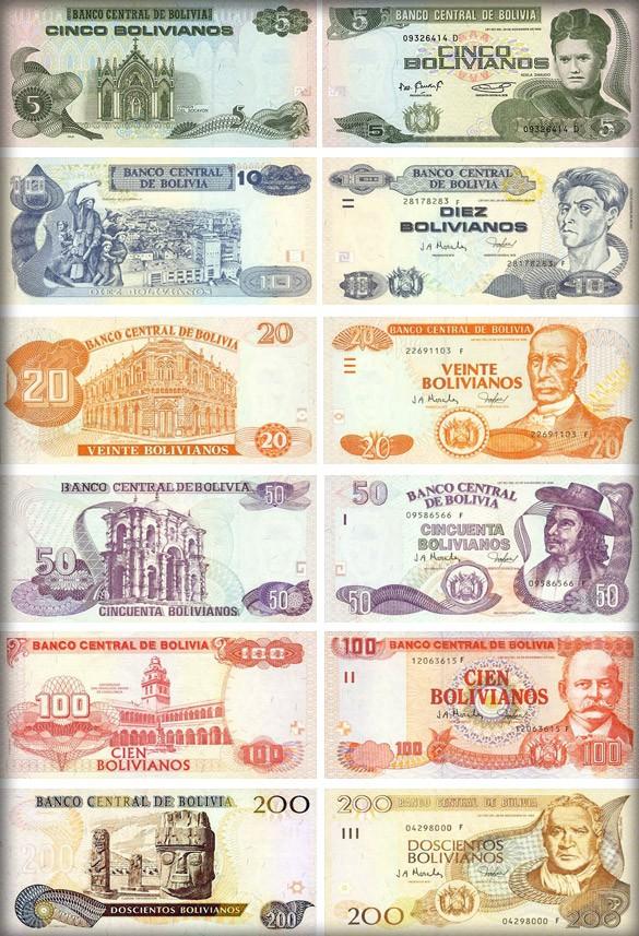 Банкноты Боливии