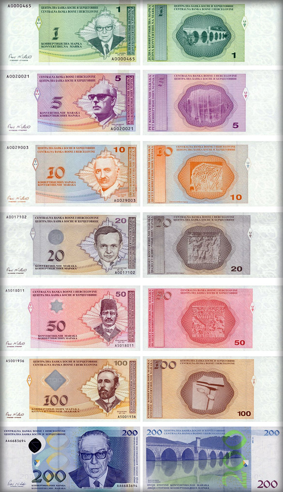 банкноты Боснии и Герцеговины