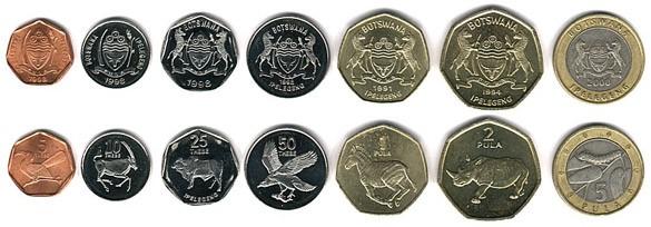 Монеты Ботсваны (тхебе)