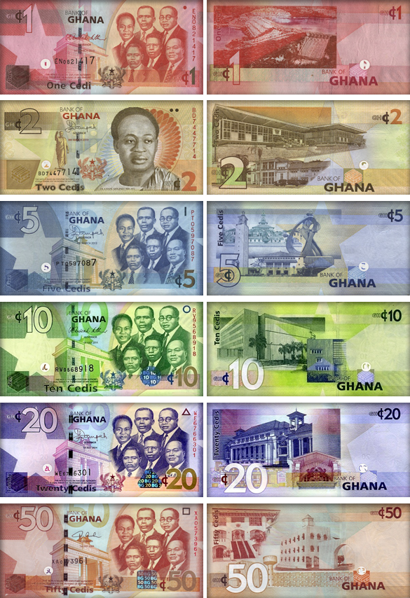 Валюта Ганы- банкноты