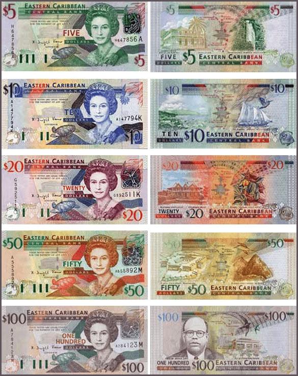 валюта Гренады - банкноты