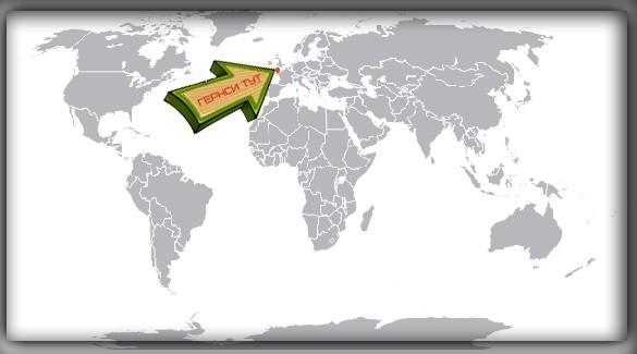 Гернси на карте