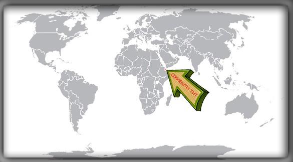 Джибути на карте мира
